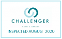 Inspected by Challenger Food & Safety - August 2020