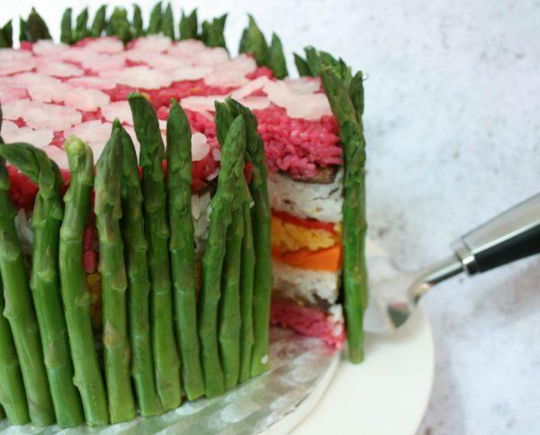 Asparagus Garden Fakey Cakey close-up