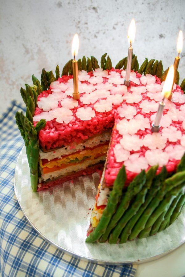 Asparagus Garden Fakey Cakey Candle