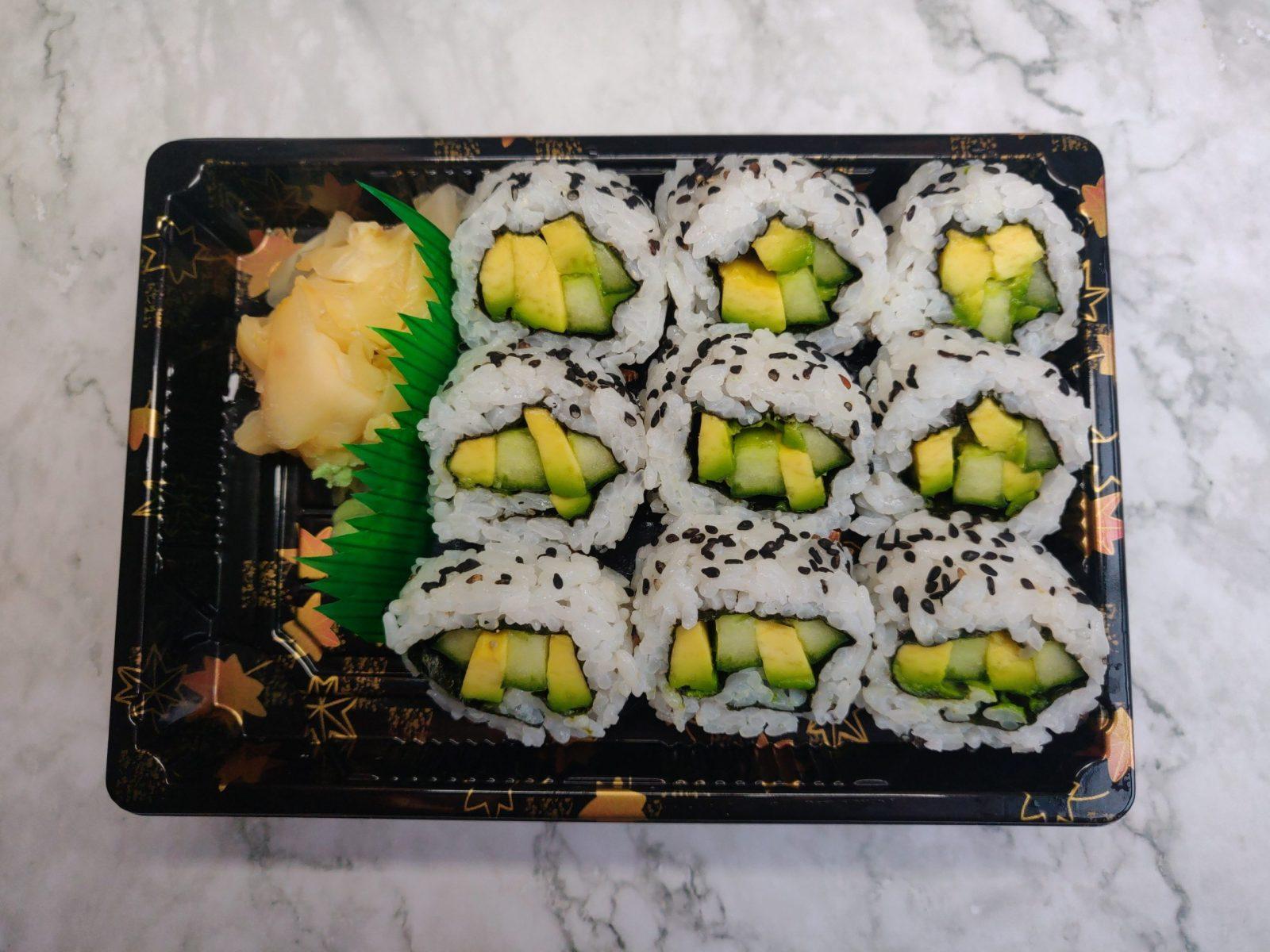 9 Uramaki (Vegan)